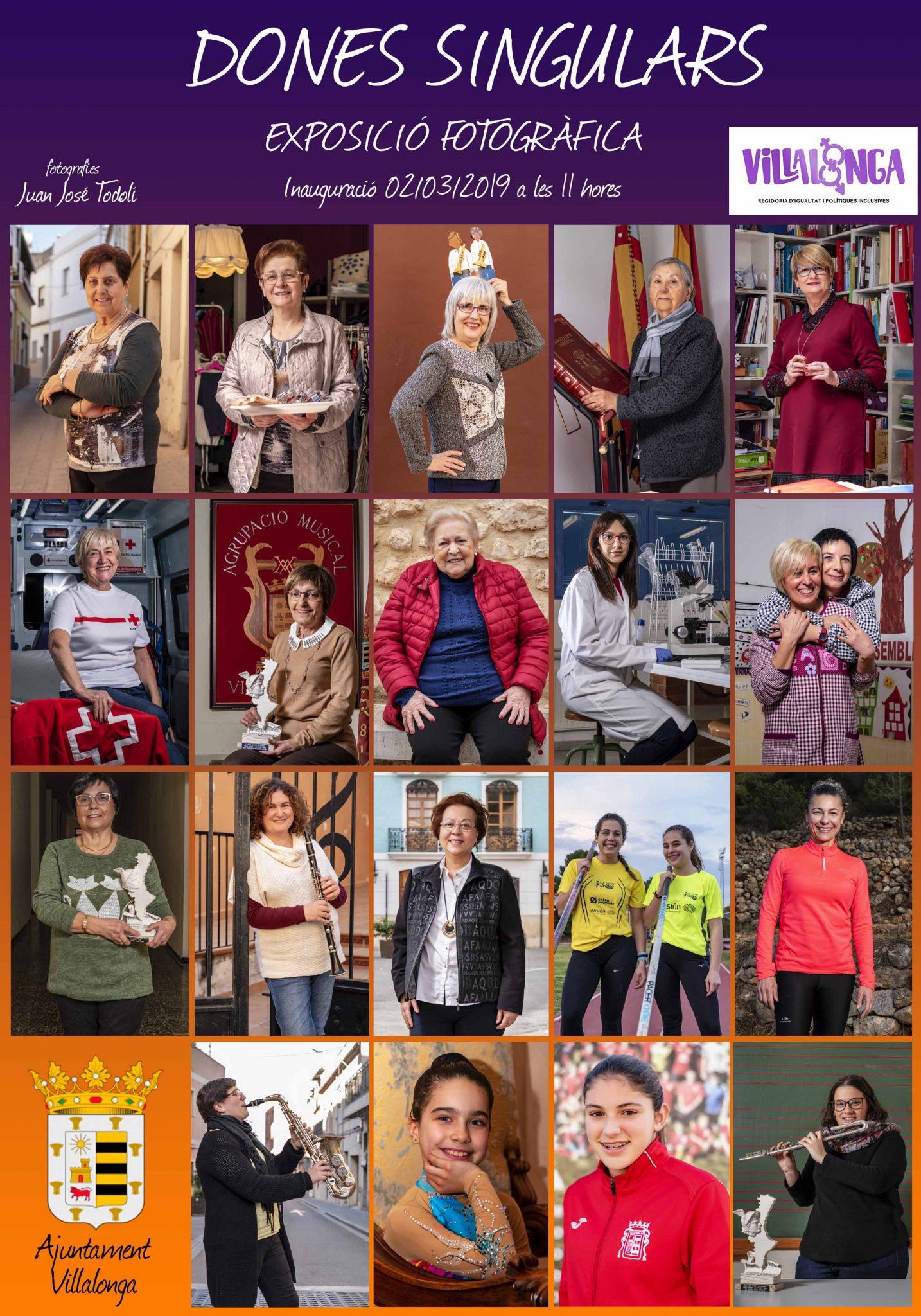 exposición fotográfica mujeres singulares de villalonga