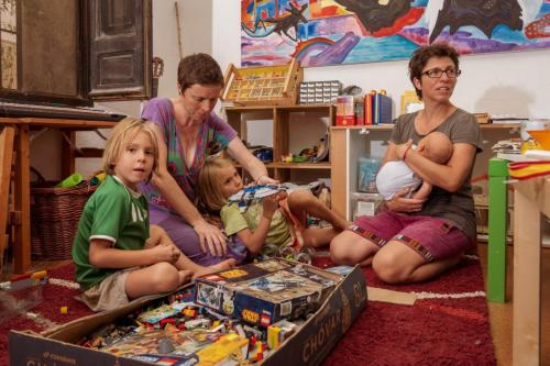 Maria José, Brenda, Fionn, Nayara y Lennon